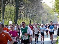 Wegstrecke des Hamburg Marathon führt am Stadtpark vorbei.